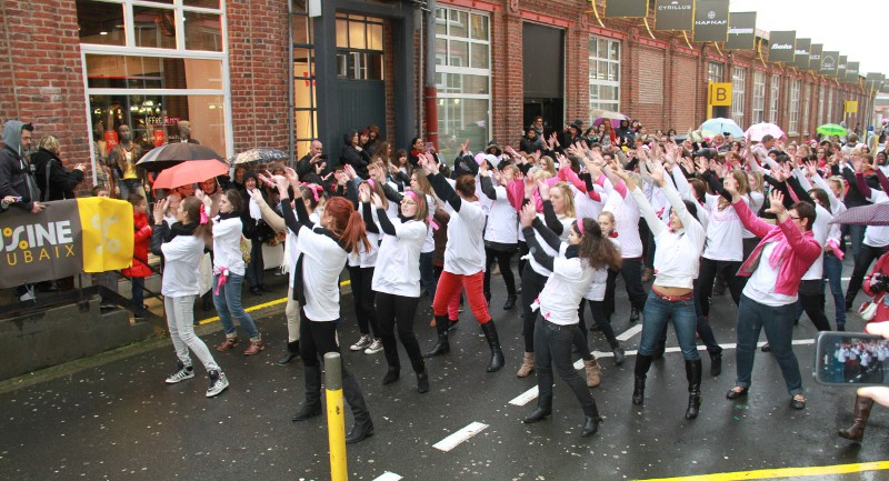 flashmob octobre rose