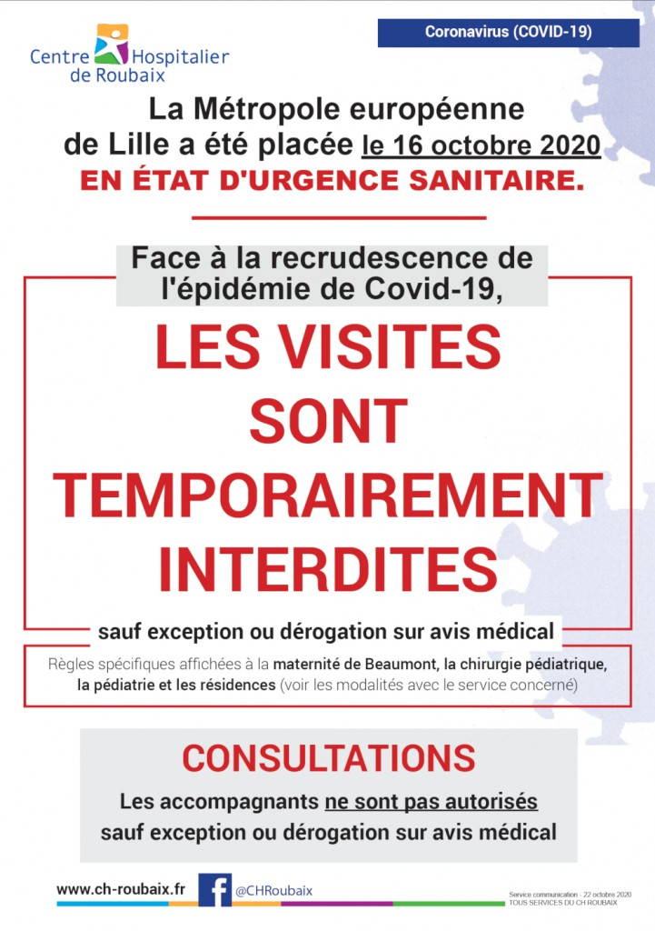 affiche interdiction des visites